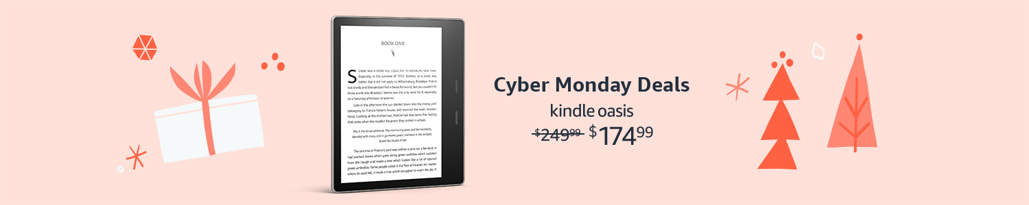 Kindle Oasis + 3 months free of Kindle Unlimited as low as $174.99