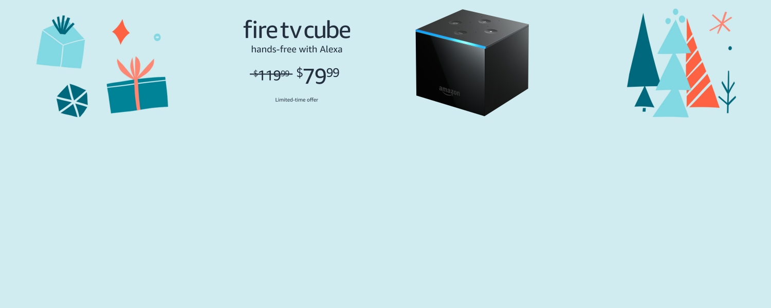 Fire TV Cube hands-free with Alexa. $79.99. Limited-time offer.