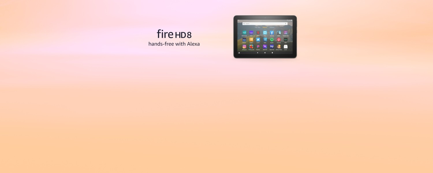 Fire HD 8. Hands-free with Alexa.