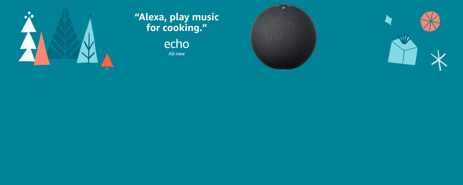 Alexa, play music for cooking. All-new Echo