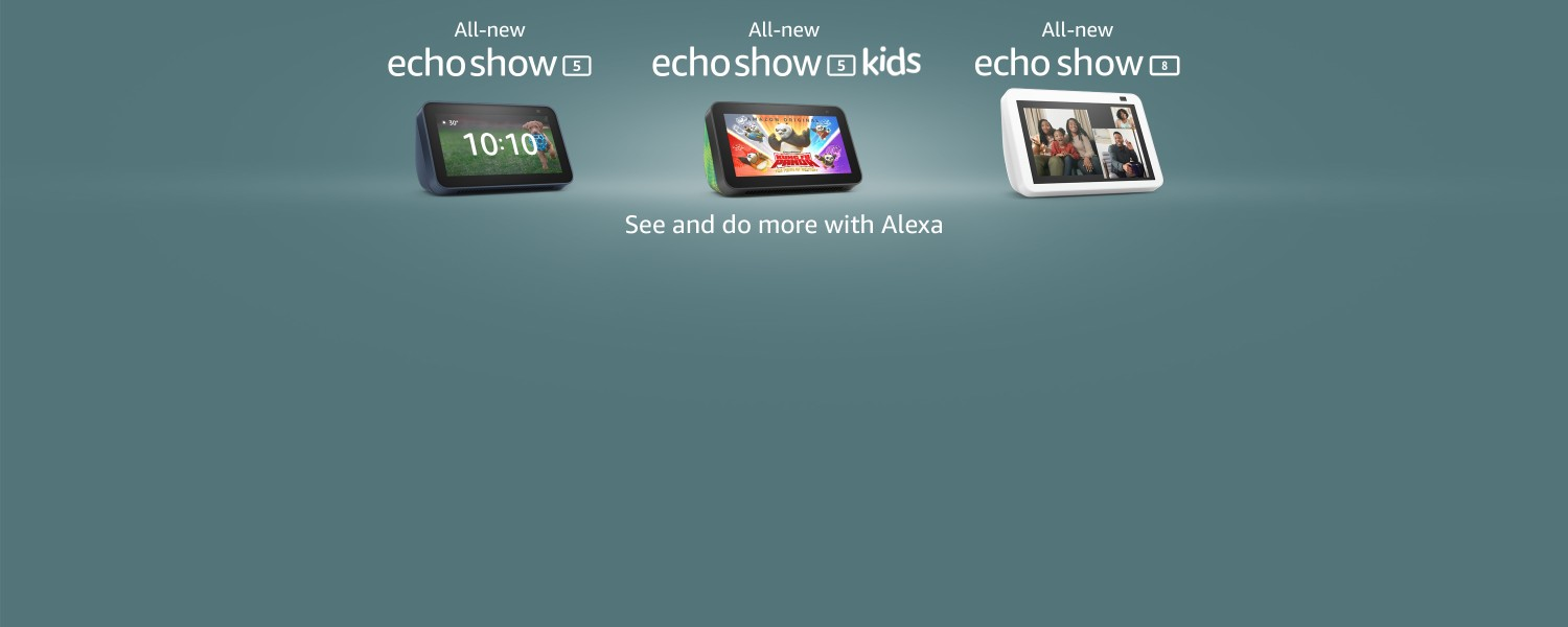 All-new Echo Show 5. See and do more with Alexa.