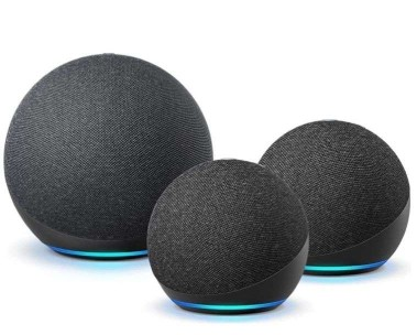 Two Echo Dots and an Echo