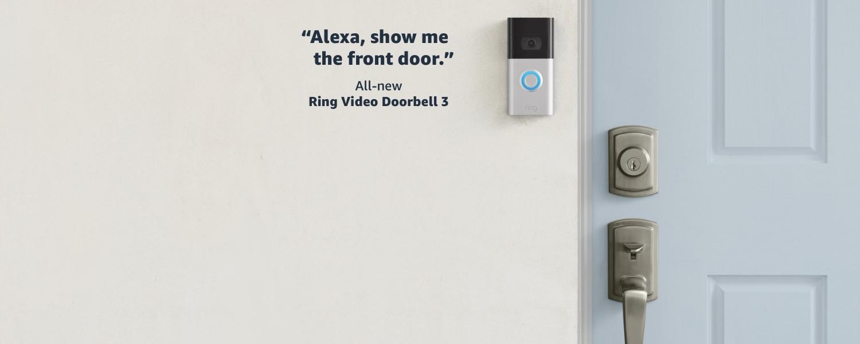 Alexa, show me the front door. | All-new Ring Video Doorbell 3