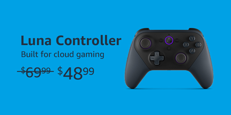 Luna Controller. Built for Cloud Gaming. Was $69.99, Now on sale for $48.99