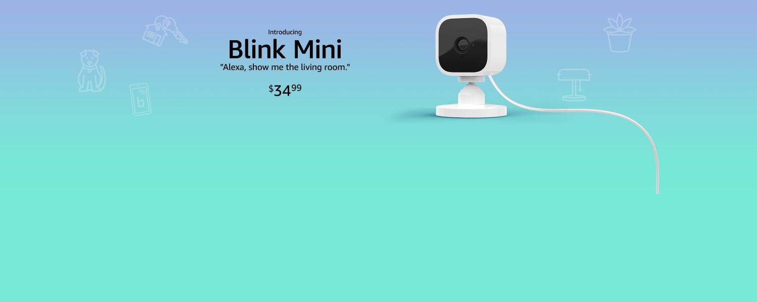 Introducing Blink Mini | Alexa, show me the living room.