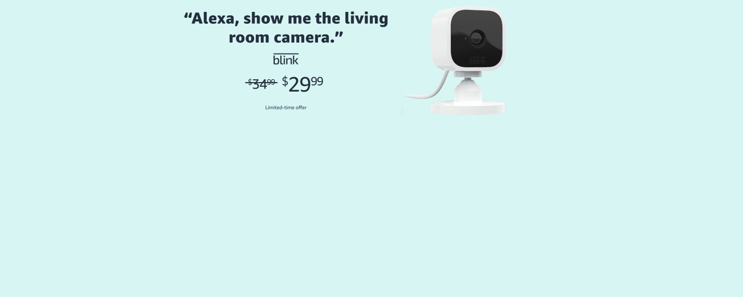 Alexa, show me the living room camera. | blink | $29.99