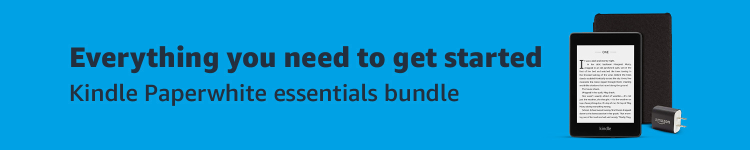 Everything you need to get started: Kindle Paperwhite essentials bundle