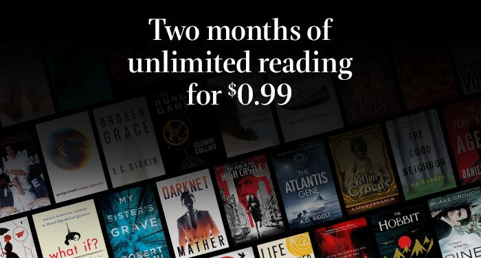 $0.99 for 2 Months of Kindle U...