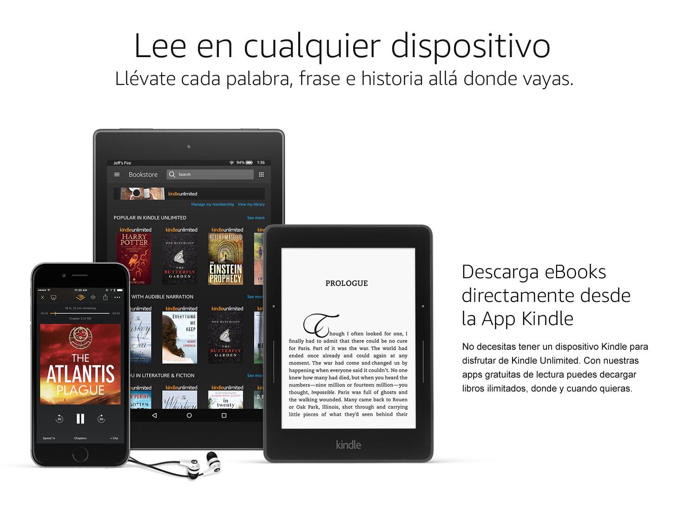 Lee en cualquier dispositivio. Descarga eBooks directamente desde la App Kindle.