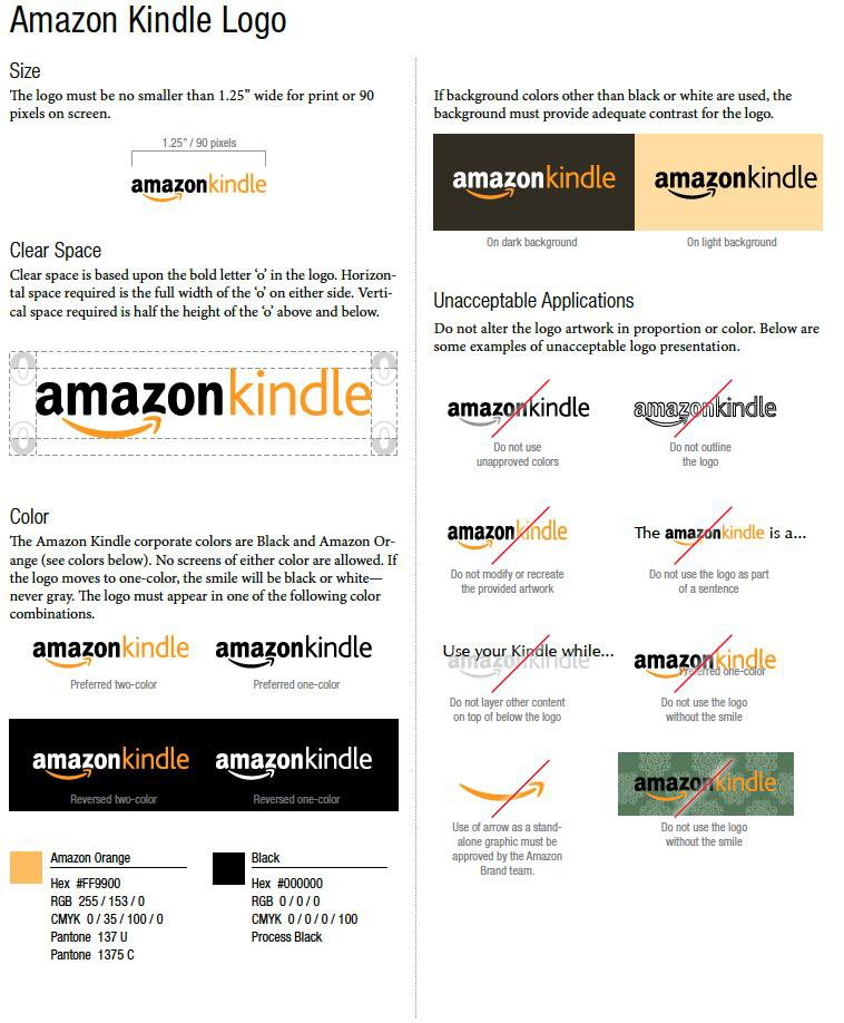 Kindle Logo Guidelines
