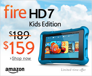 Kindle Fire HD7 Kids Edition on sale