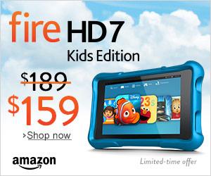 Kindle Fire HD7 Kids Edition on sale