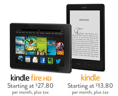 Get Kindle or Kindle Fire Now, Pay Over Time! No fees or interest!