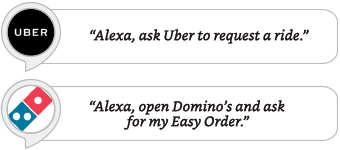 Alexa, ask Uber to request a ride.