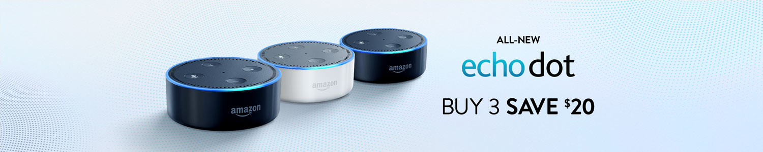 All-New Echo Dot, Buy 3 Save $20