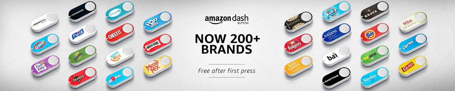 Amazon Dash Buttons- Over 200 Brands