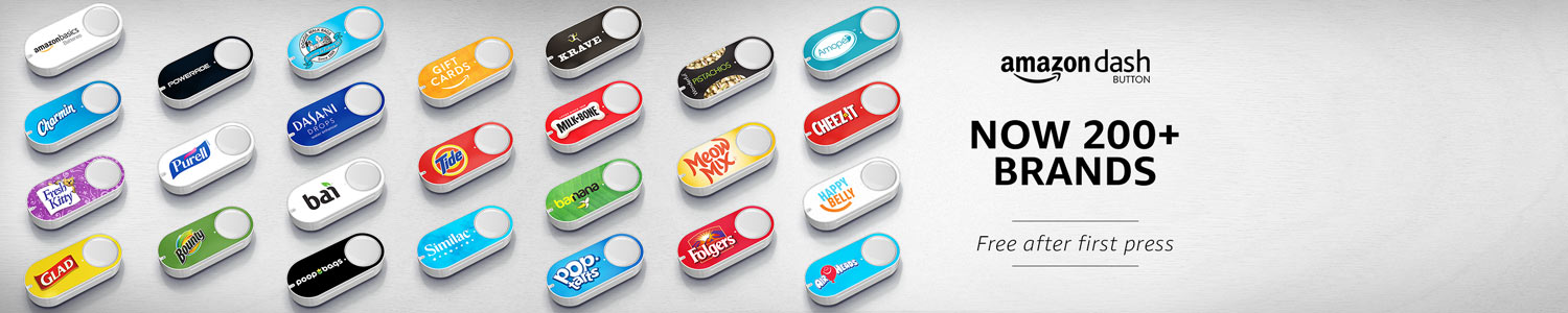 Amazon Dash Buttons: Over 200 Brands