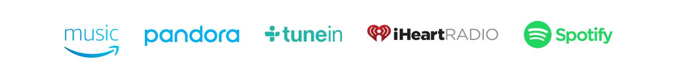 Amazon Music | Pandora | TuneIn | iHeartRadio | Spotify