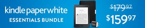 Save $20 on Kindle Paperwhite Essentials Bundle