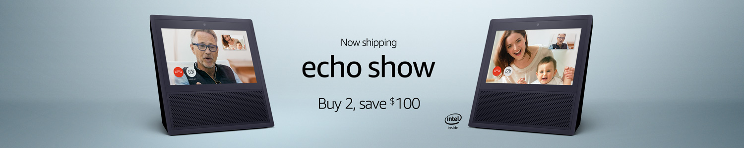 Echo Show | Buy 2 Save $100