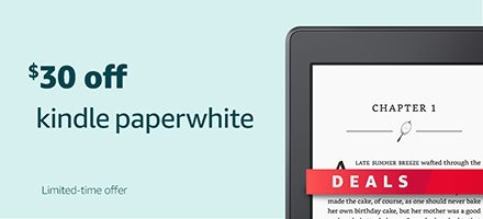 Black Friday Deals Week - $30 off Kindle Paperwhite
