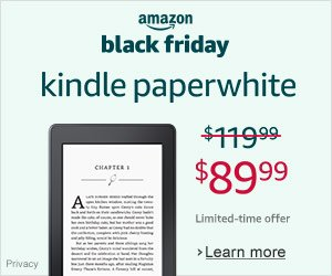 Shop Amazon - Black Friday Deals Kindle Paperwhite $30 Off