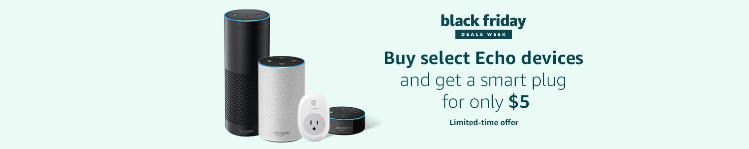 Get a smart plug for only $5 with select Echo purchases