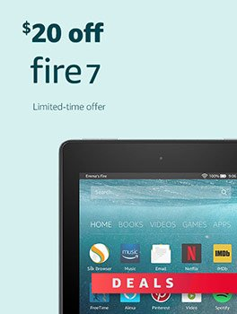 Black Friday Deals Week: Save $20 on All-New Fire 7. Limited-time offer.