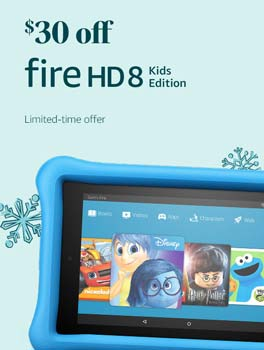 Save $30 on All-New Fire HD 8 Kids Edition Tablet. Limited-time offer.