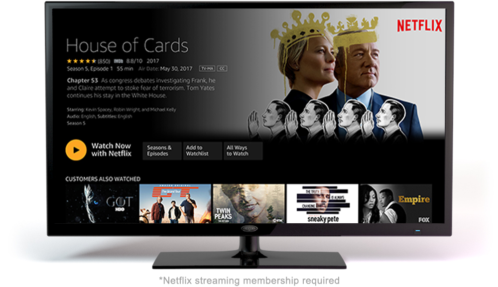 Fire TV UI with House of Cards