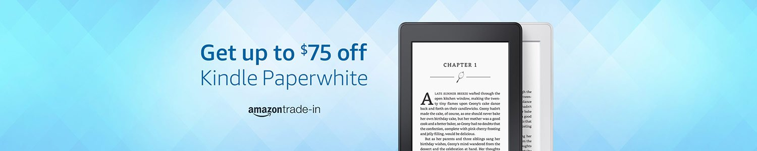 Get up to $75 off Kindle Paperwhite