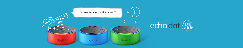 Introducing Echo Dot Kids Edition | Alexa, how far is the moon?