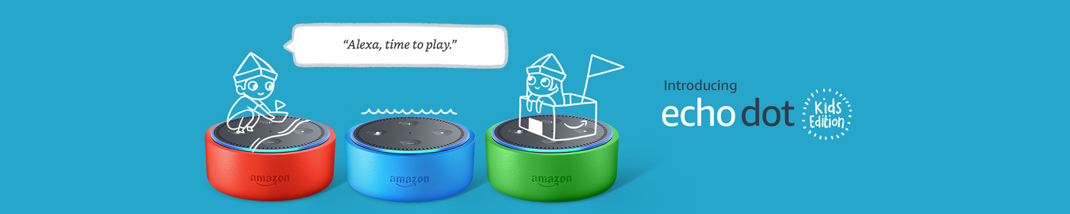 Introducing Echo Dot Kids Edition | Alexa, time to play.