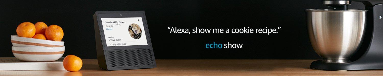 Echo Show | Alexa, show me a cookie recipe.