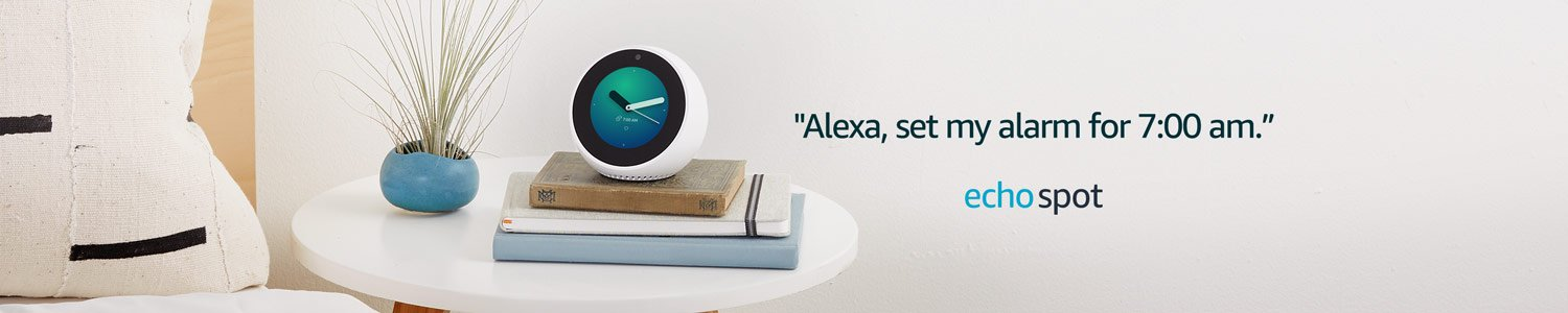 Echo Spot | Alexa, set my alarm for 7:00 am.