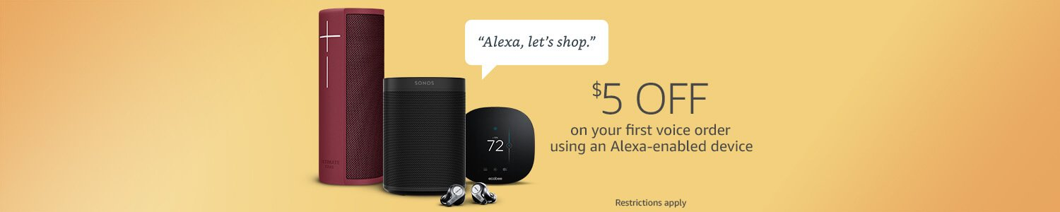 $5 off on your first voice order using an Alexa-enabled device