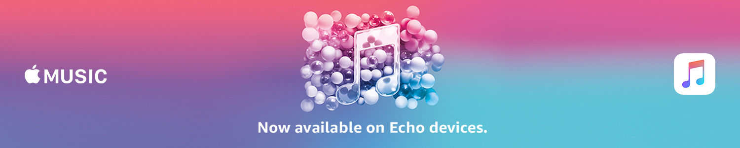 Apple Music now available on Echo devices.