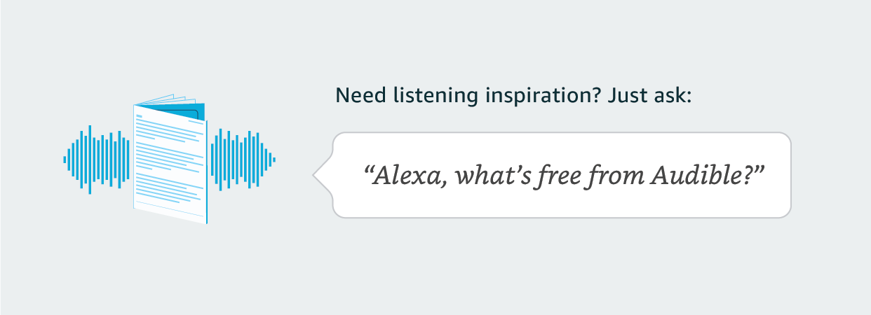 Alexa, what's free from Audible?
