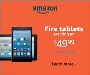Amazon Fire tablets - Cyber Monday