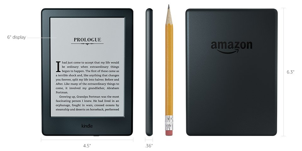 Kindle E-reader (Previous Generation - 8th) - Black, 6