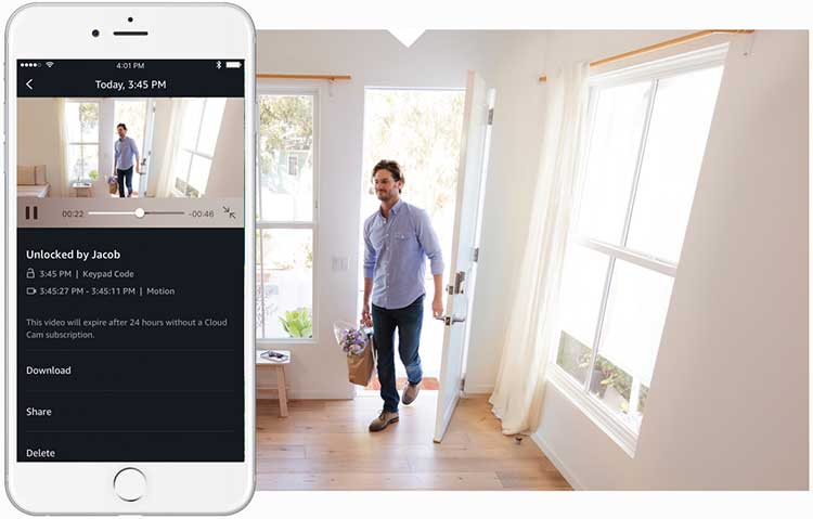 Control and monitor your door from the Amazon Key App