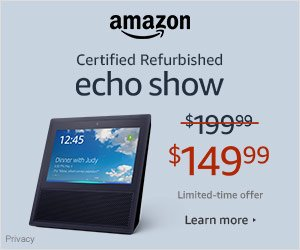 Shop Amazon Devices- $50 off Certified Refurb Echo Show