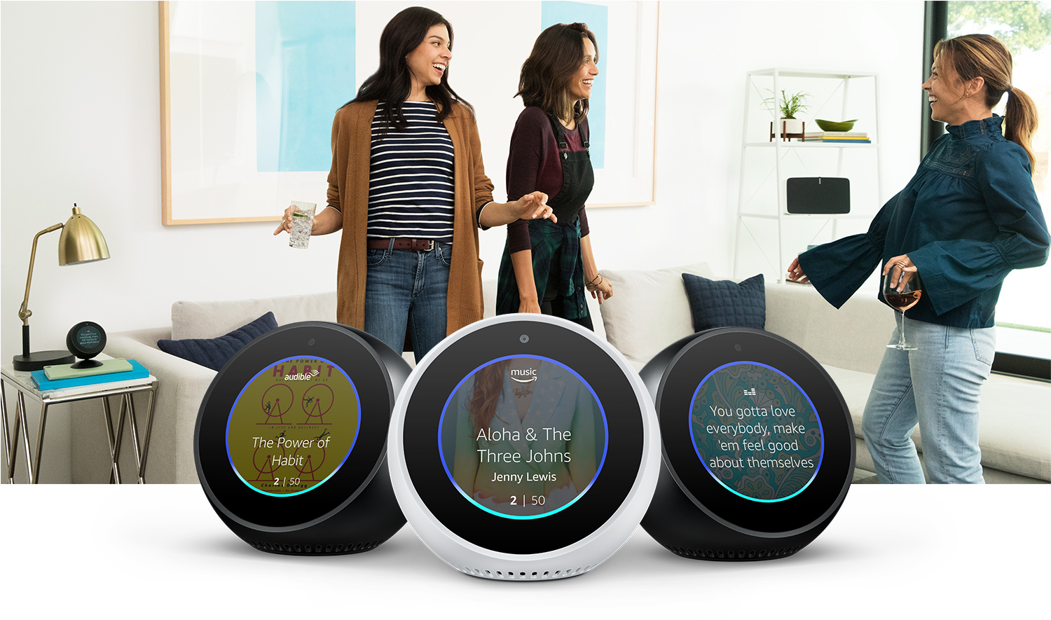 Echo Spot Alexa Enabled Speaker With 25 Screen Black Wemo Wiring Diagram Audible Amazon Music Video And More
