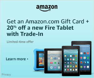Trade-in Amazon Fire tablets-Get 20% off a new Fire tablet