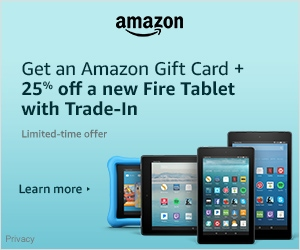 Fire Tablets: 25% off Trade-in + Amazon Gift Card