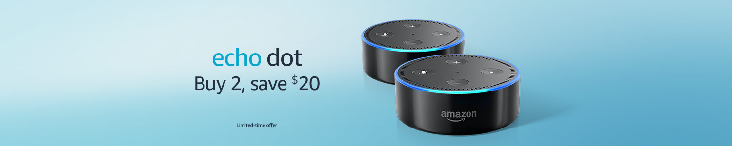Echo Dot | Buy 2, save $20 | Limited-time offer