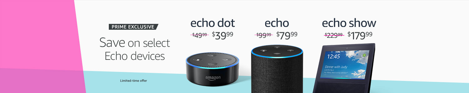 Prime exclusive | Save on select Echo devices | Limited-time offer