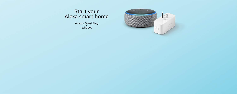 Start your Alexa smart home | Echo Dot + Amazon Smart Plug