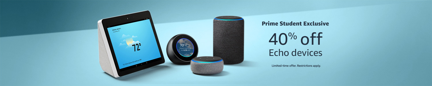 Prime Student Exclusive | 40% off Echo devices for a limited time