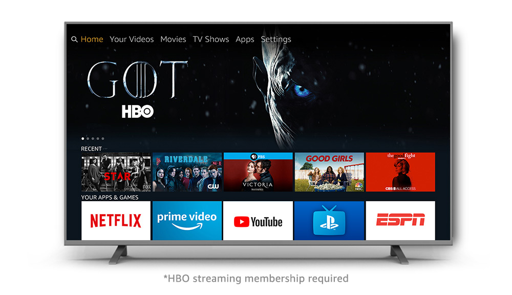 Fire TV UI with Game of Thrones